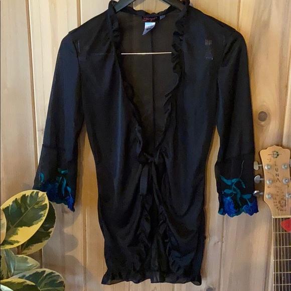 Sexy lingerie short robe
